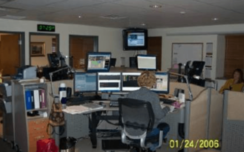 Overview of one of five consoles within SouthCom Dispatch