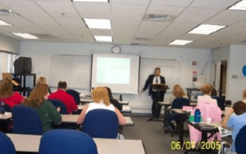 Training session at Prairie State College Continueing Education of Telecommunicators